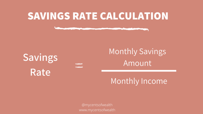 SAVINGS RATE CALCULATION