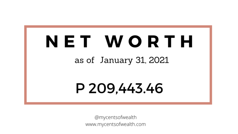 January 2021 Net Worth